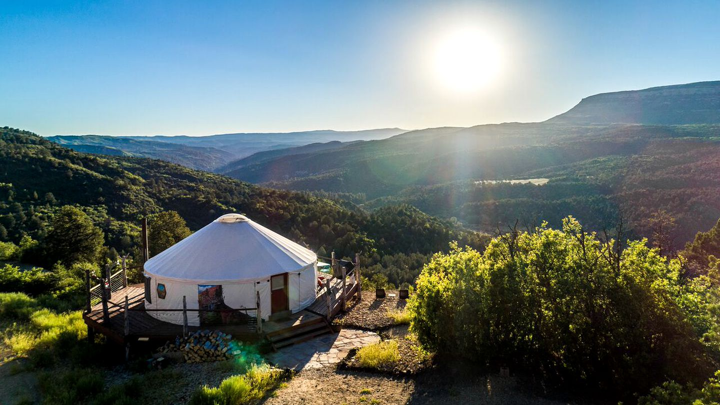 Yurt camping on Zion National Park campgrounds is the perfect travel gifts