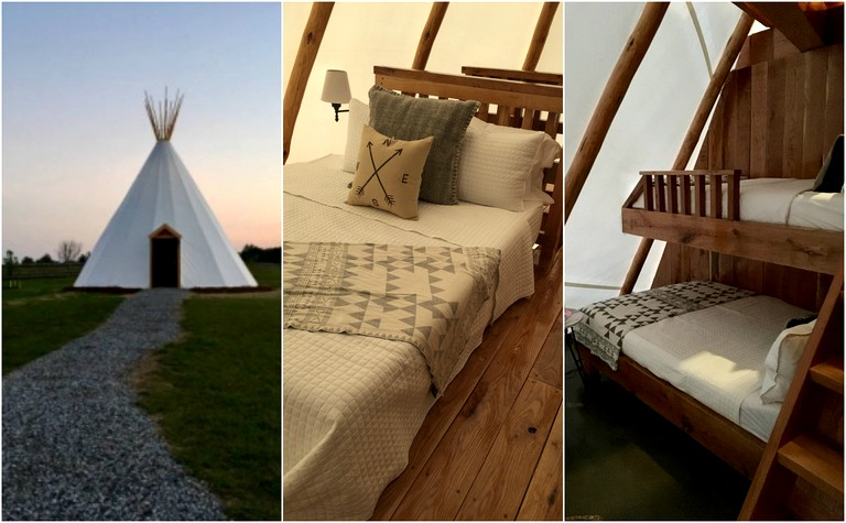 Luxurious Tipi Rental with a Fully-Furnished Interior near Richmond,  Virginia