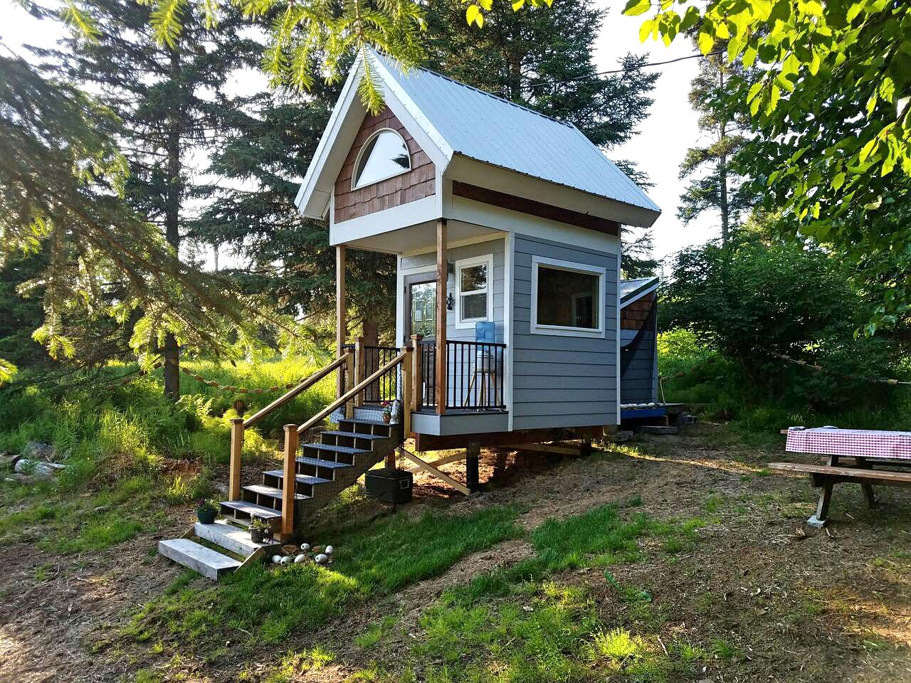 Tiny House with Idyllic Forest and Mountain Views for a Fishing Getaway  near Homer, Alaska