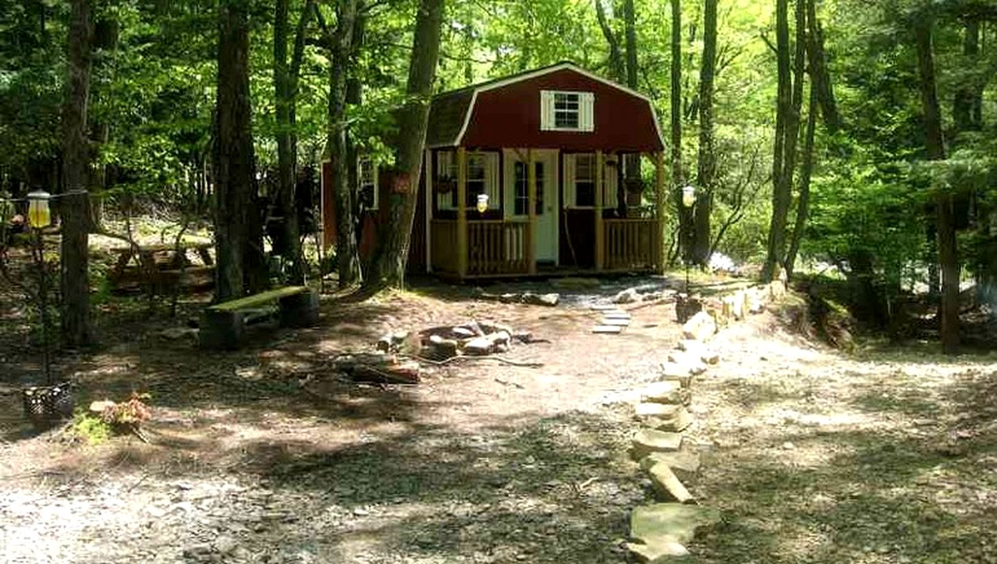 Luxury camping in WV with cabins