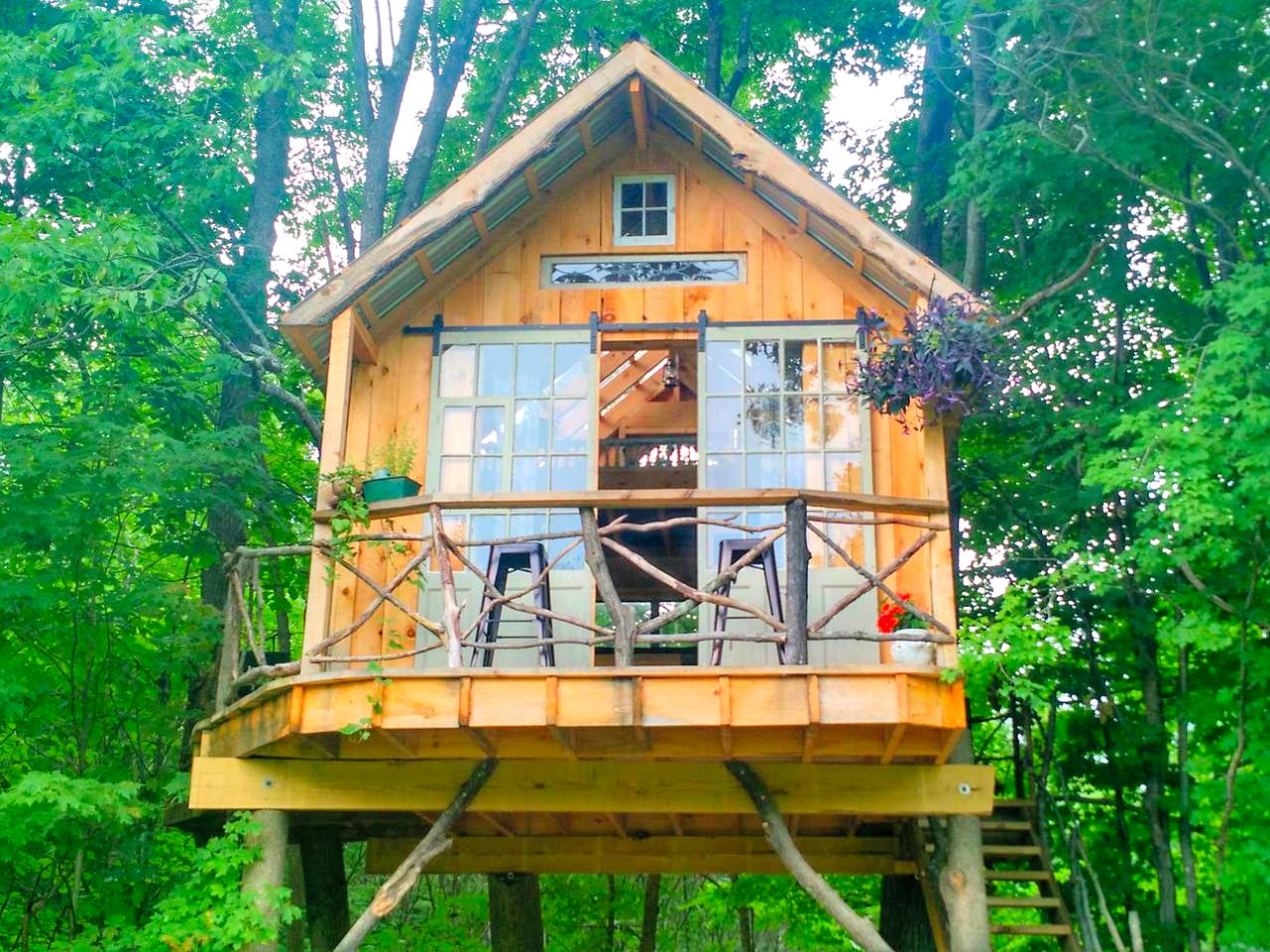Saratoga Springs tree house rental