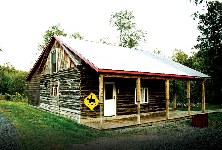 Simple and Spacious Log Cabin Rental on Working Ranch in Adirondacks