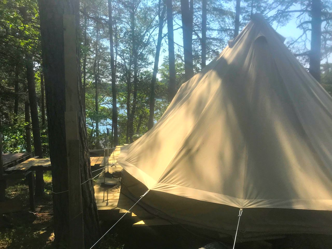 Bell tents for a romantic getaway in Stockholm, Sweden
