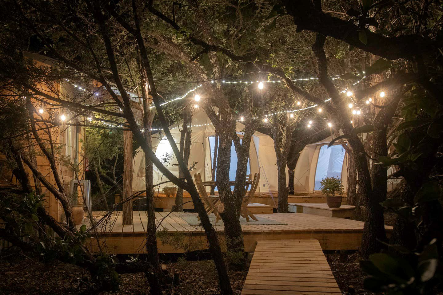 Texas Hill Country glamping for a quick getaway from Dallas.