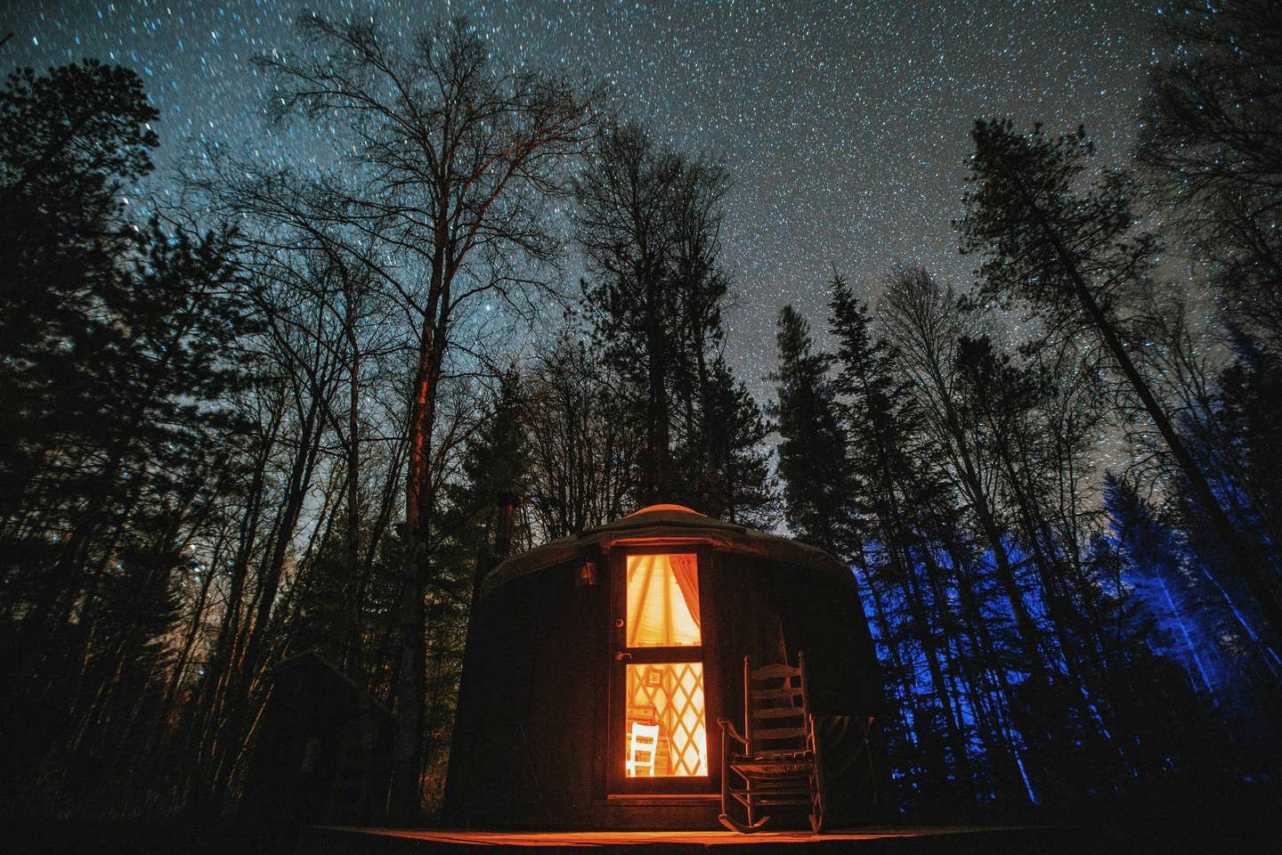 Luxury yurt rental near the Idaho Panhandle National Forest
