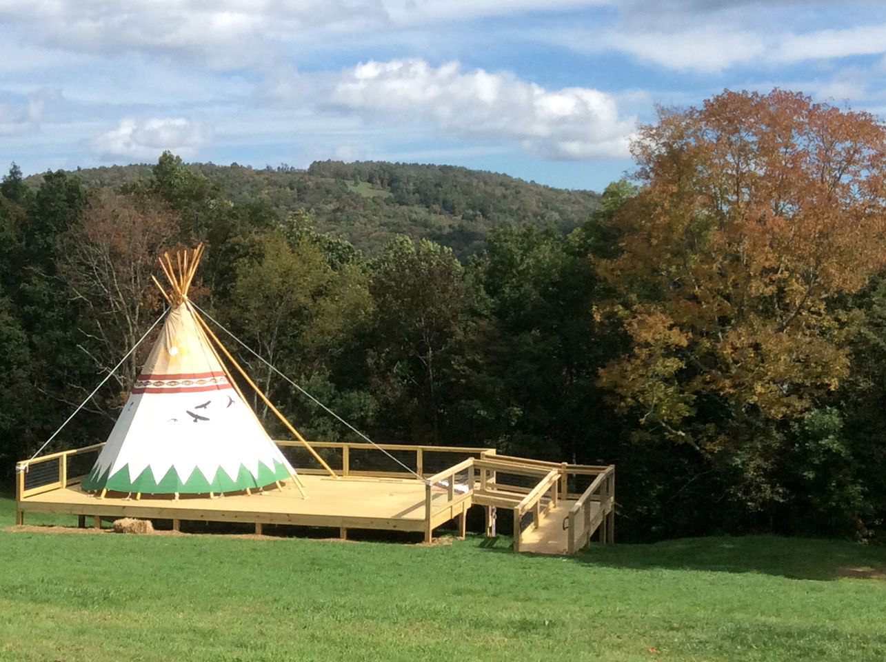 Glamping NC: Tipi rental in the Blue Ridge Mountains