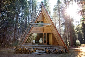 Photo of Sophisticated A-Frame Cabins above Bass Lake, California