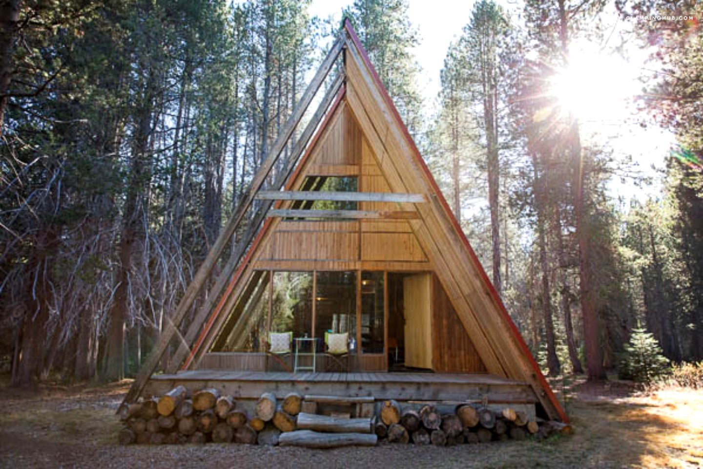 Spacious luxury cabin near yosemite national park california for How to build a house in california