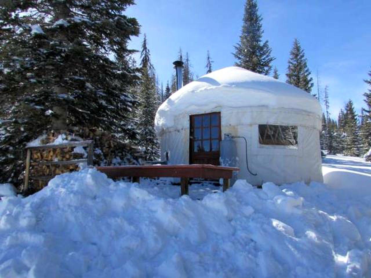 Ski Rental Near Trujillo Meadows Colorado Stay in this unparalleled colorado yurt for a night of pure magic. modern ski yurt rental near the trujillo meadows reservoir in colorado