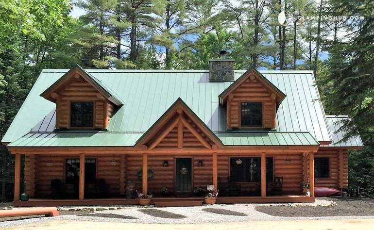 cabin jordan w rentals cabins pictures sleeps harrison long hd sebago homeaway and log home authentic bay big vrbo with regarding lake