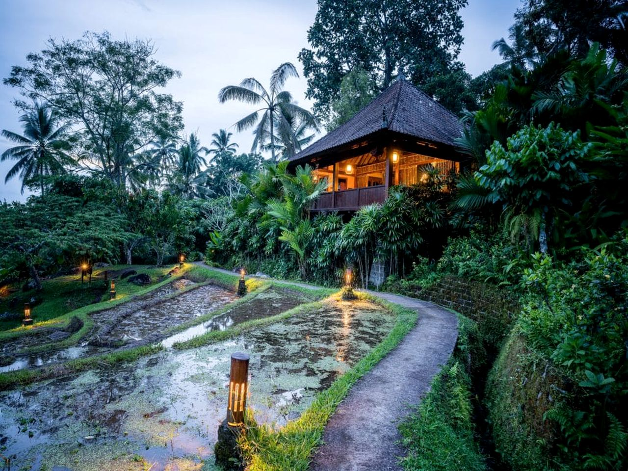 Jungle bungalow rental in Bali, Indonesia.