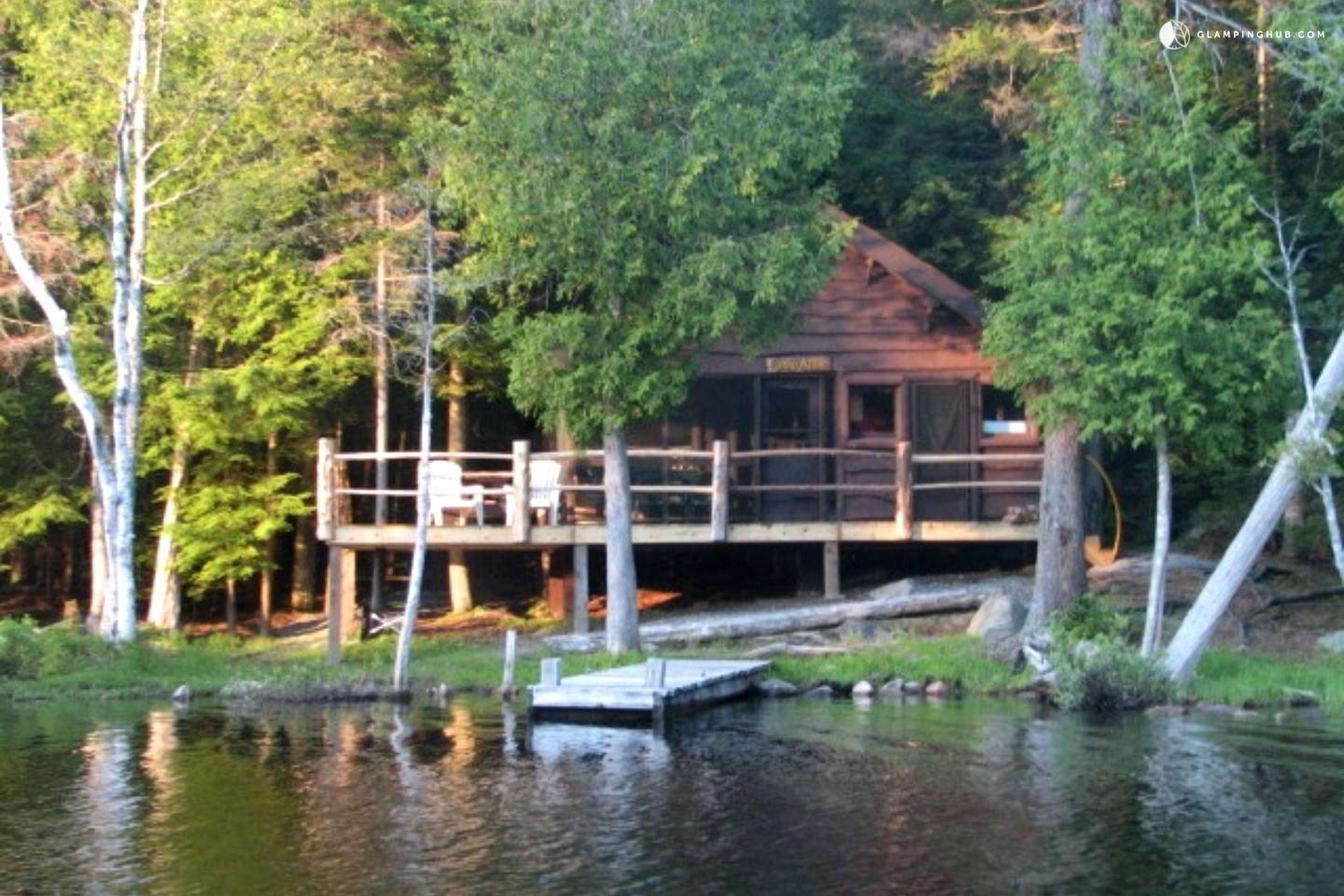 Spacious Lakefront Cabin With Private Dock In Upstate New