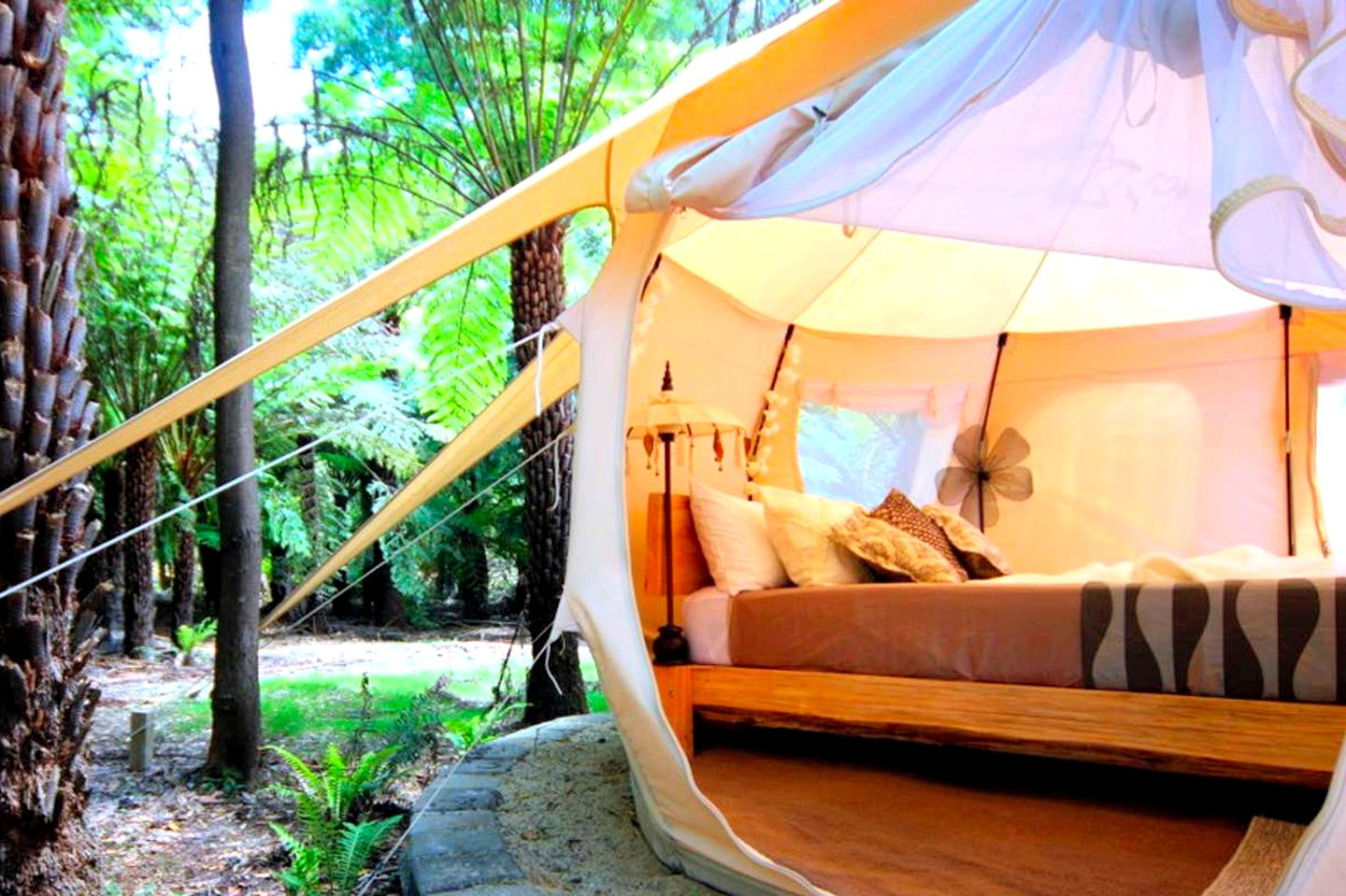 Bell tent rental for glamping in Victoria