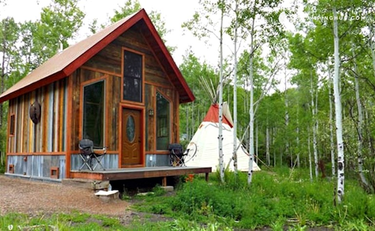 Tipi rental in colorado for Cabins for rent near glenwood springs