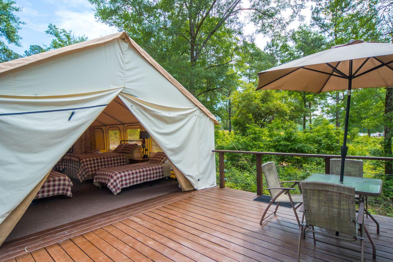 Luxury Tent Camping near Atlanta, Georgia