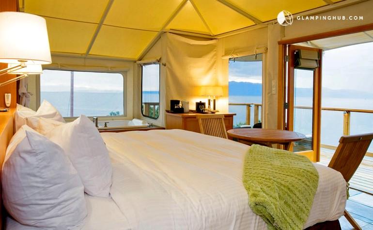 & Luxury Tents site BC British Columbia | Cabins in Halfmoon Bay BC