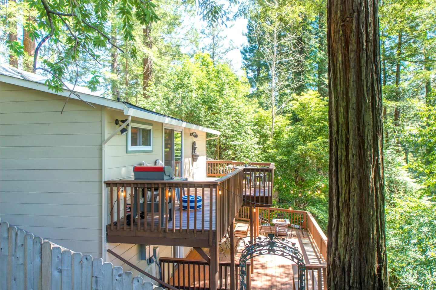 Go glamping in Northern California at this pet-friendly cabin rental!