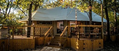 Unique Four-Person Luxury Camping Tent for Getaway near Fort Worth, Texas