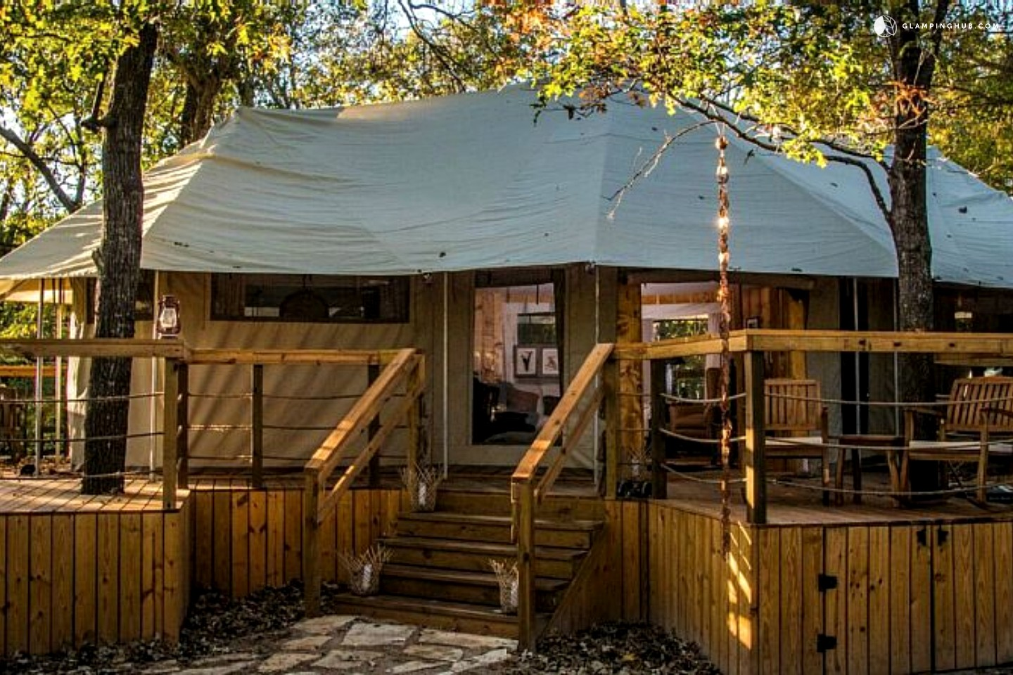 Luxury tent camping near fort worth for Brazos river cabins