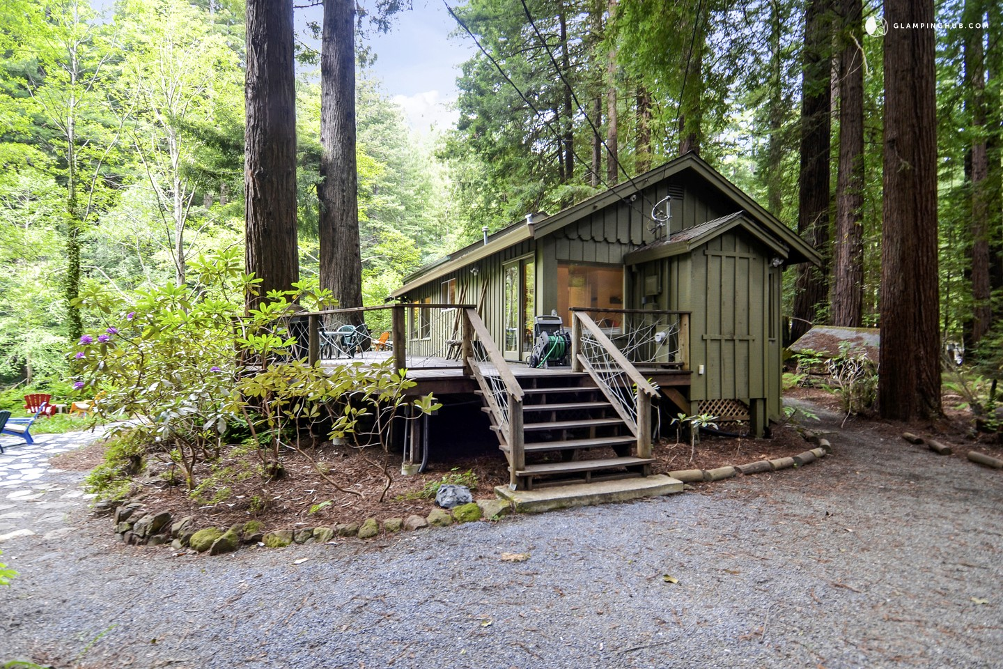 cabin rental near the armstrong redwoods state park in