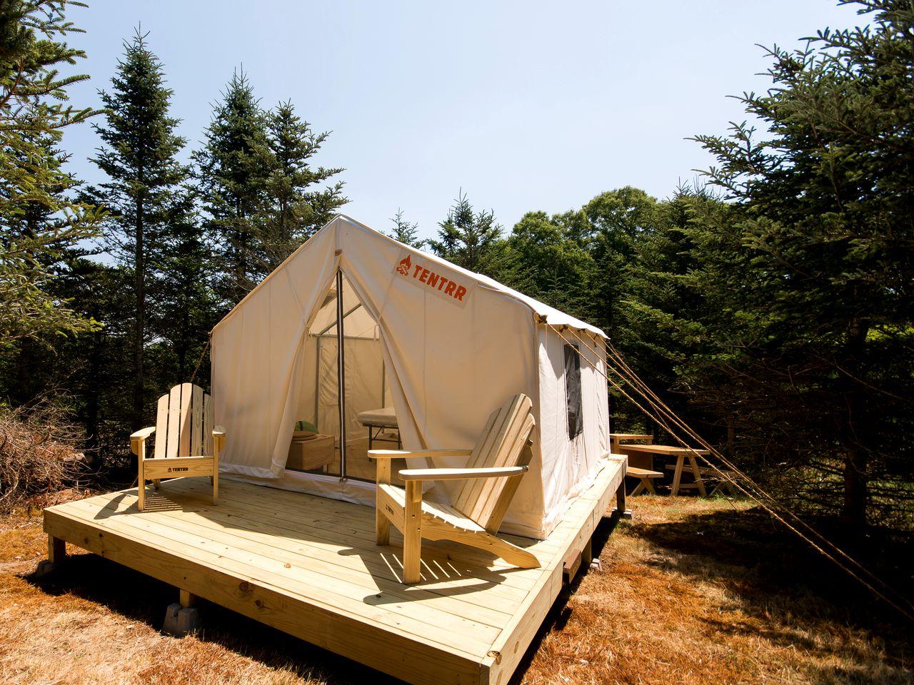 Tiverton Camping Tent   Rhode Island Glamping   Glamping Hub