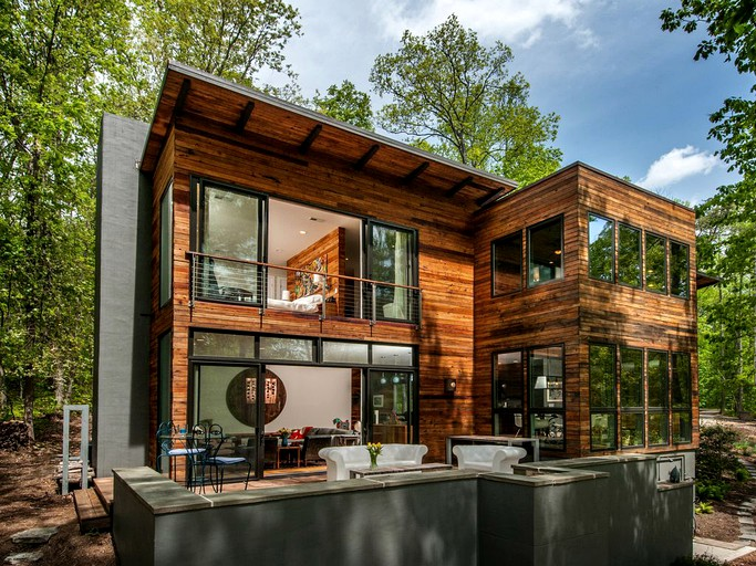 Modern And Luxurious Cabin Rental On The New River Gorge In West Virginia