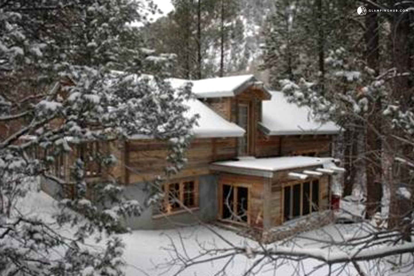 log cabin rental near santa fe new mexico