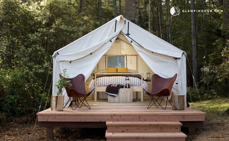 Safari tent camping near san francisco for Camping au jardin