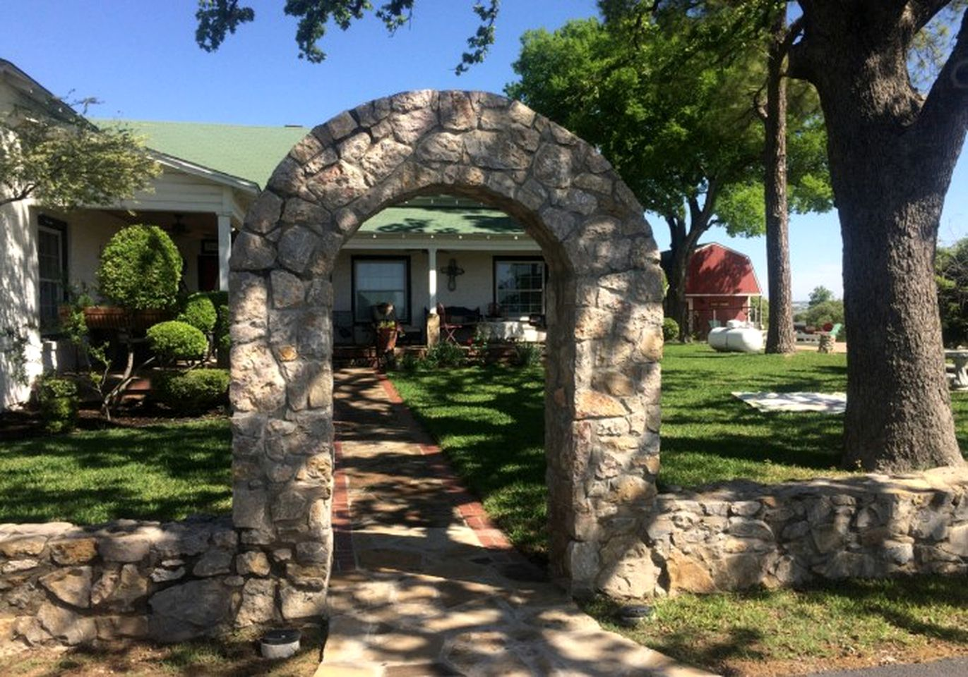 Entrance to a bed and breakfast in Azle, Texas.