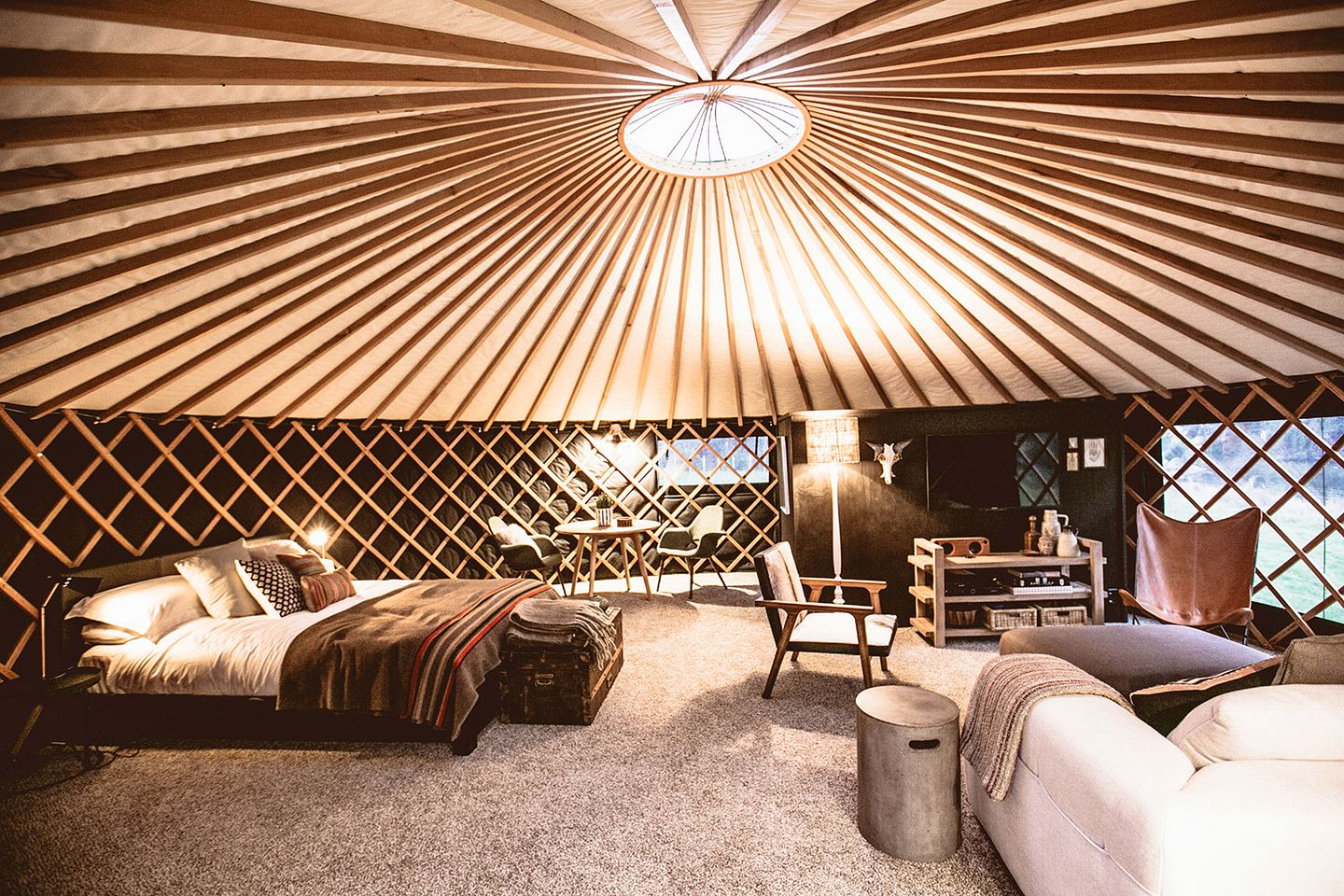 Yurt Rental In Raglan North Island The yurt is a cost effective alternative to conventional housing. luxurious yurt rental with outdoor tub in raglan north island new zealand