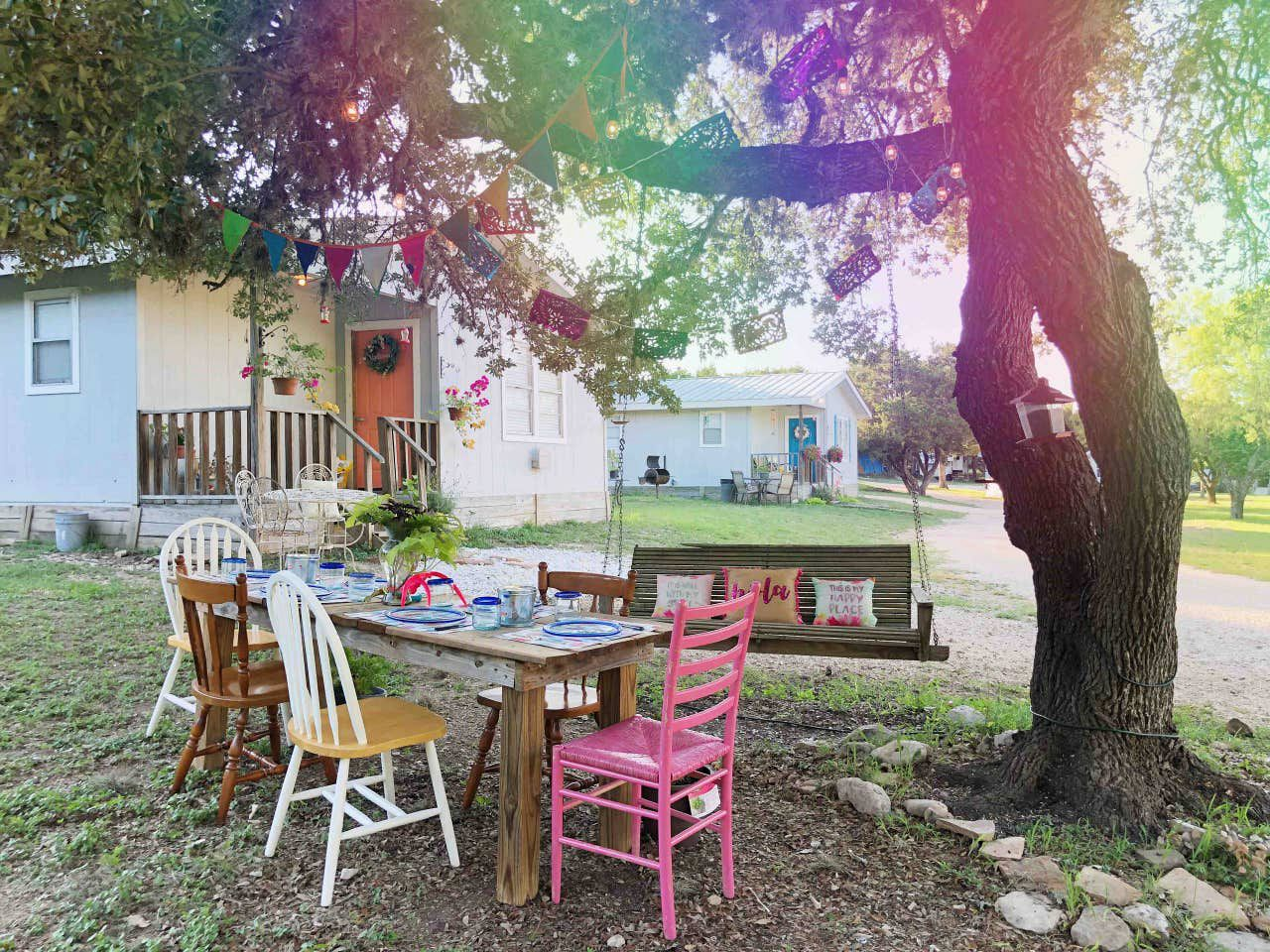 Plan a Texas Hill Country family vacation glamping with Kids near the Frio River.