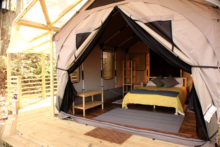 Romantic Woodland Tented Cabin Rentals Near The Potomac River In West Virginia