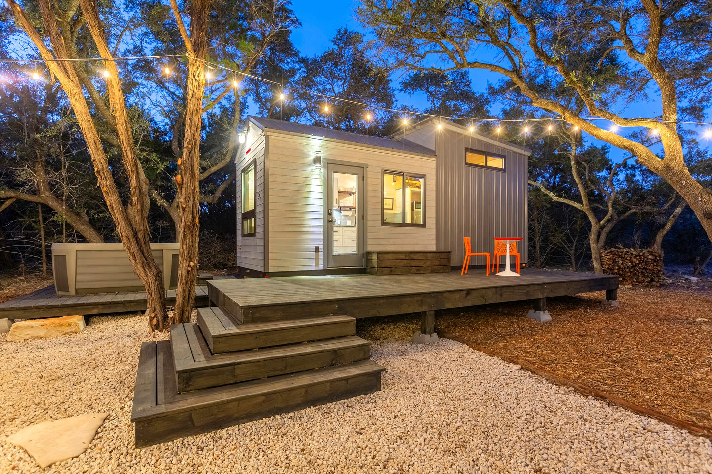 Tiny Houses (Wimberley, Texas, United States) Glamping Texas (with hot tub)!