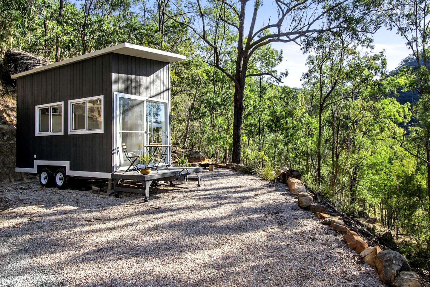 This amazing tiny house rental is perfect for a glamping getaway in NSW.