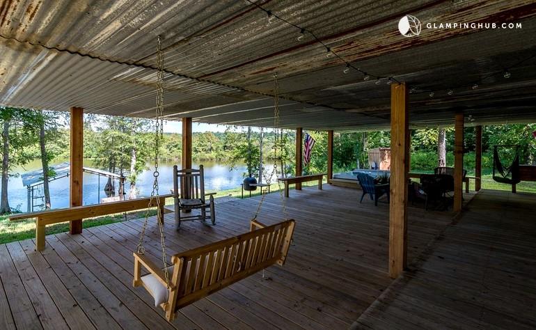 Kitchen Area Toledo Bend Cabin Rentals With Pool