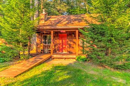 Traditional Wooden Cabin Rental in the Poconos, Pennsylvania