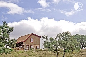 Photo of Tranquil Log Cabin Farm Stay in Texas Hill Country near San Antonio