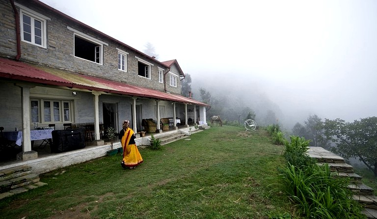 two story balcony Two Story Luxury Cottage With Private Balcony Veranda In The Himalayas India