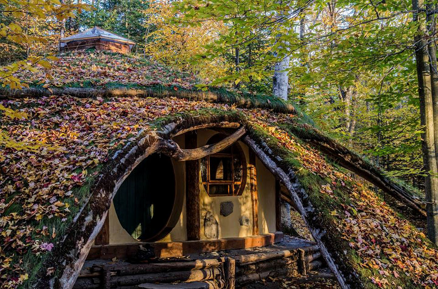 Enjoy this quaint hobbit hole: glamping pod rental in Quebec, Canada