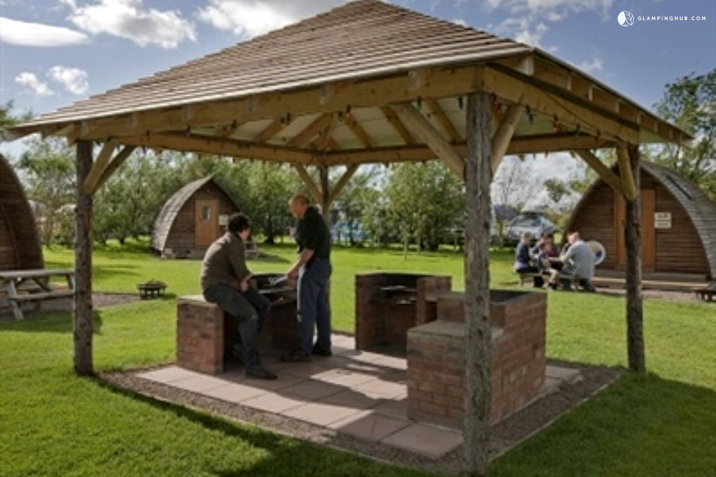 100 backyard pods wooden tents homing park this guy u0027s