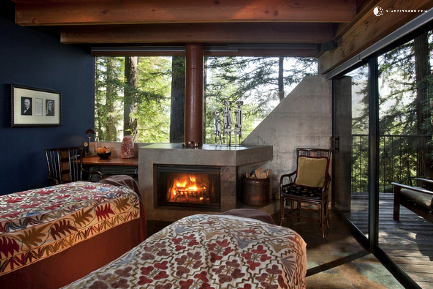 Upscale tree house hotel in big sur northern california for Rustic hotel