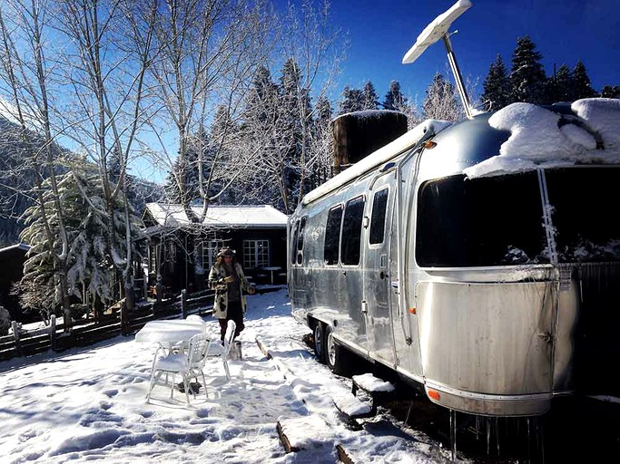 Luxurious Classic Airstream Rental for Two on Farm in Central Greece