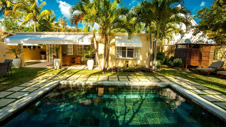 Peaceful Villa with a Private Pool on the Beach in Belle Mare, Mauritius
