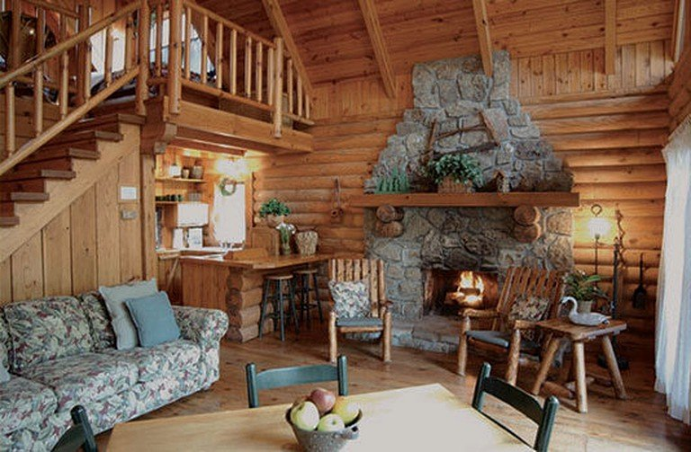 Charming Riverfront Log Cabin Rental With Indoor Jacuzzi Near Chattanooga Tennessee