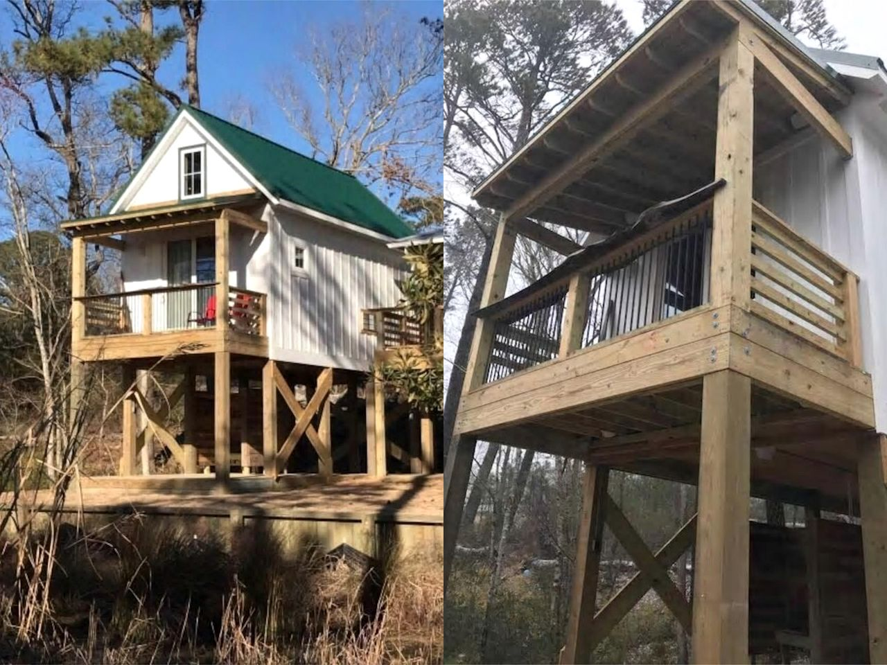 Stay in one of the best Kitty Hawk rentals: elevated cabin in the Woods Coastal Preserve