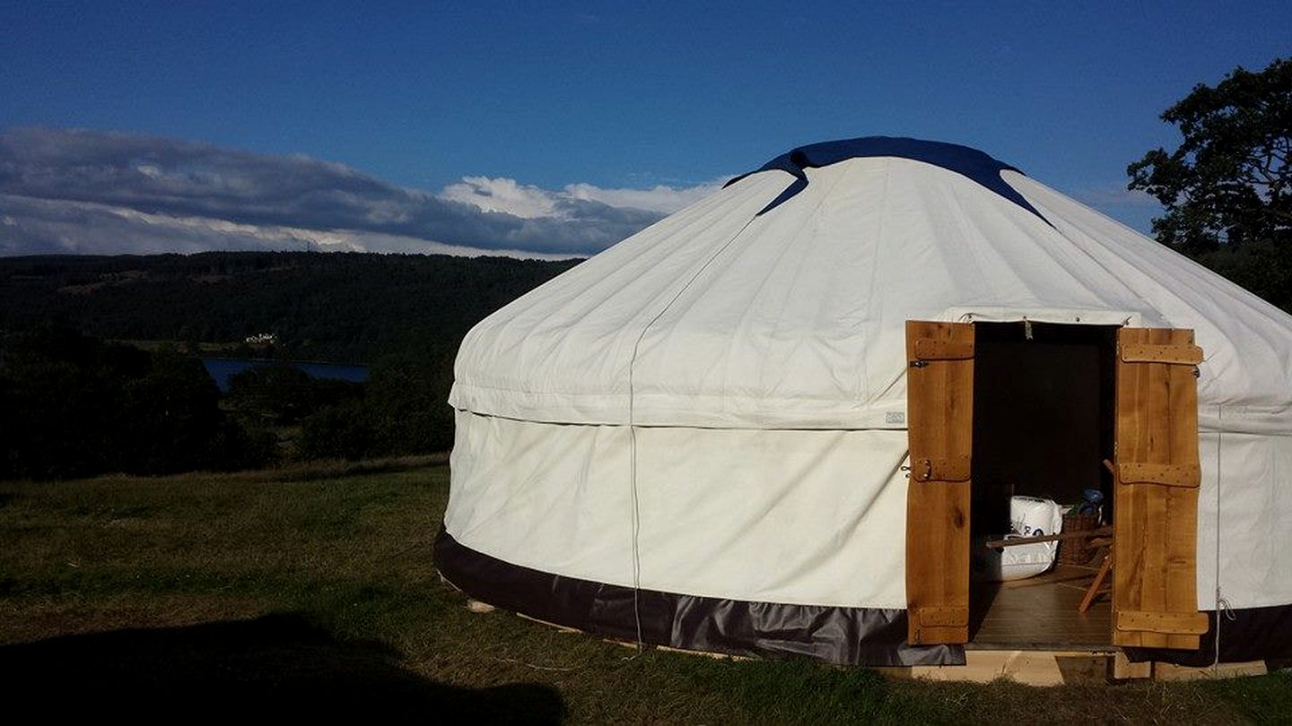 Yurt camping rental in the Lake District, England.