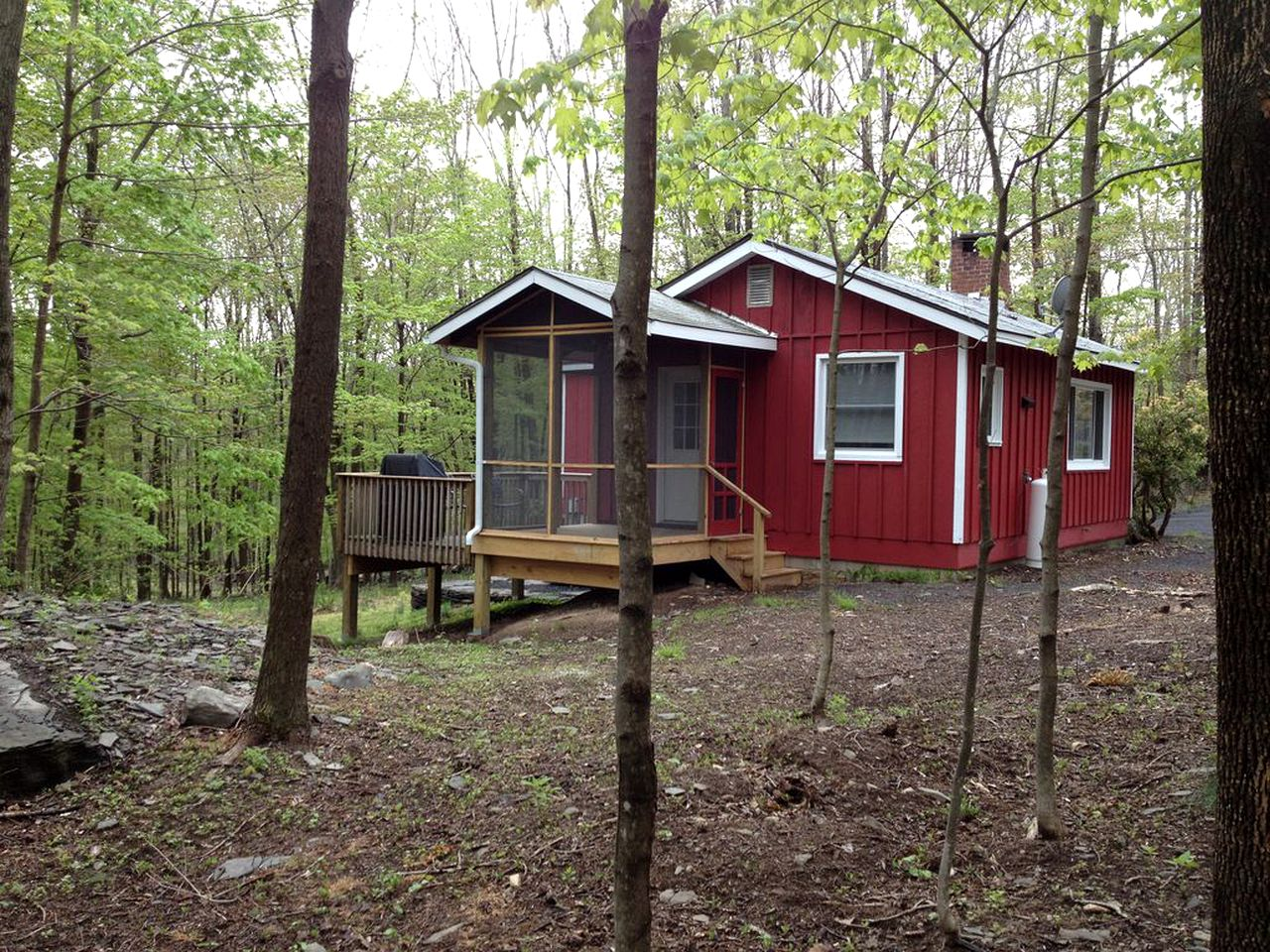 Cabin With Hot Tub In Woodstock New York