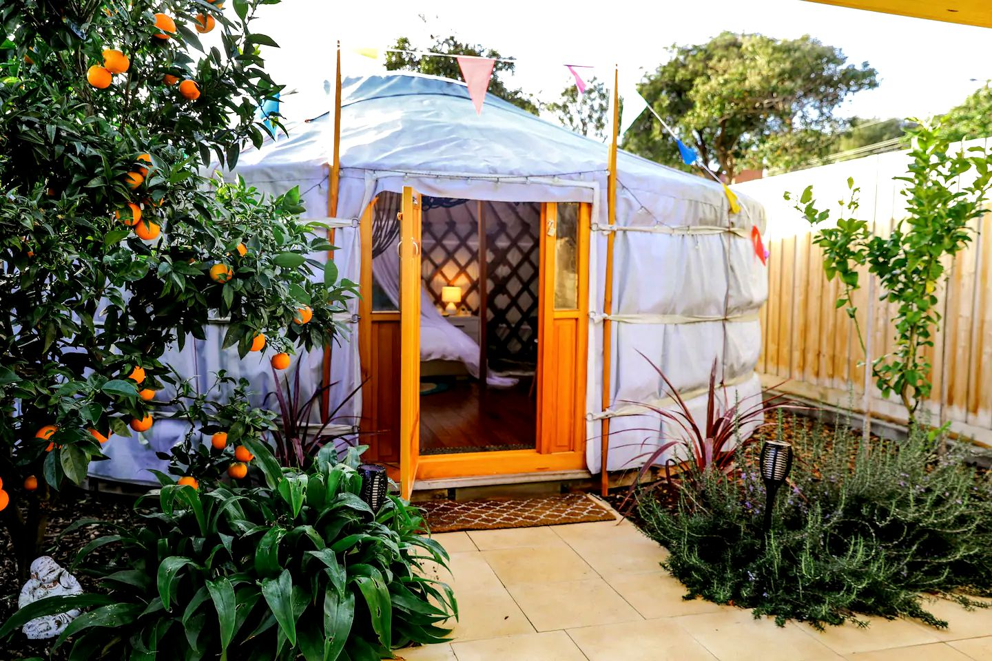Glamping? Mornington Peninsula? This gorgeous yurt rental with modern features is perfect for romantic getaways. Melbourne is close by for day trips!