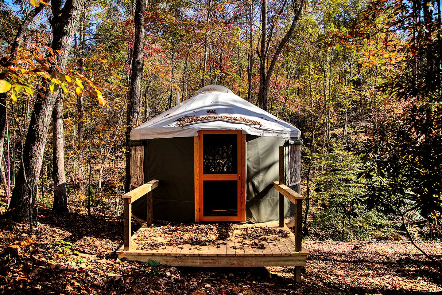 This accommodation near Lake Lure is great for glamping in North Carolina