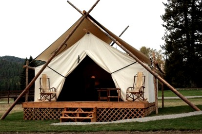 Luxury Tent and Tipi Camping in Montana